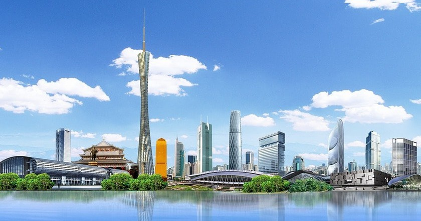 canton-guangzhou-blue-sky-2544495 | © hellowwjj / Pixabay