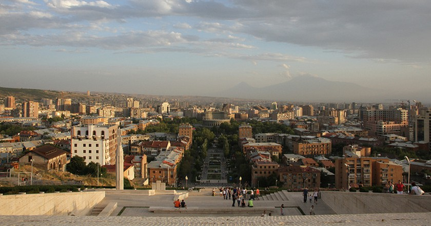 Yerevan from the top of the Cascade | ©Marco Zanferrari/Flickr
