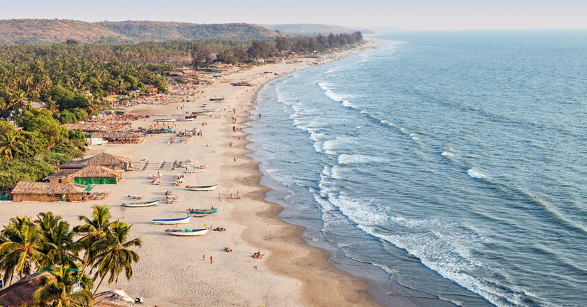 Beauty Arambol beach aerial view landscape, Goa state in India | © saiko3p/Flickr