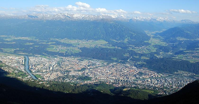 Innsbruck, view from northwest | © Svickova/Wikicommons