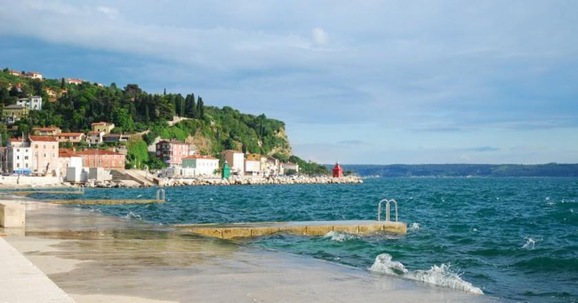 Slovenian beach | © someone10x/Flickr