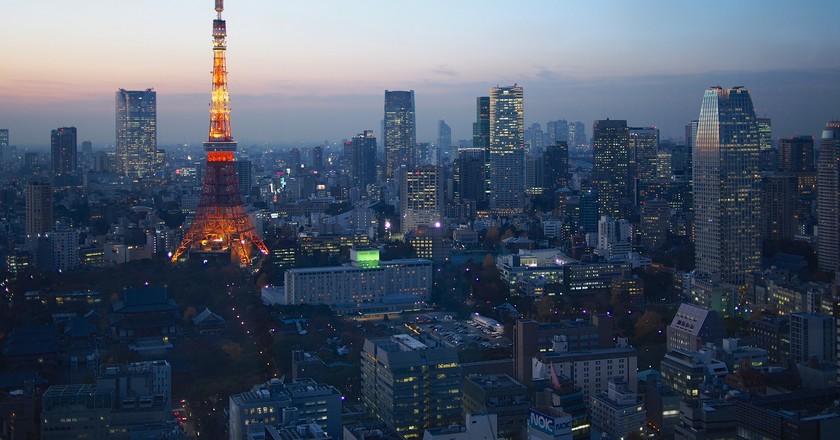 Blue Hour over Tokyo © Balint Földesi