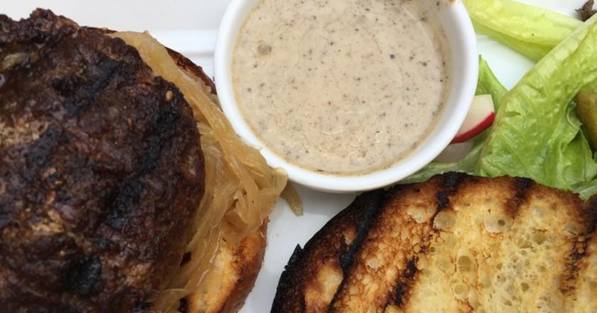 Hamburger with truffle sauce  © Brooke Yalof