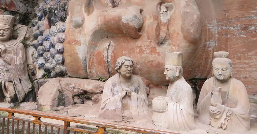 Lying Buddha, Dazu Rock Carvings, Chongqing, China. | © Jpbowen/WikiCommons