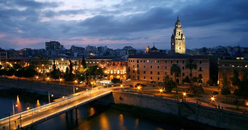 Night view of Murcia | © realcasinomurcia.com/Wikicommons