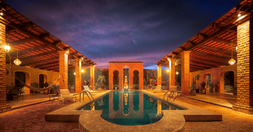 Courtyard | courtesy of Hacienda La Magdalena