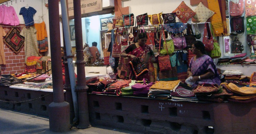 Handlooms and ethnic ware at MG Road | © IK's World Trip