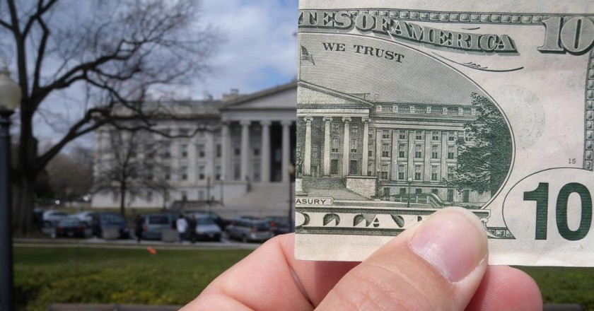 $10 and the US Treasury ©Ryan McFarland