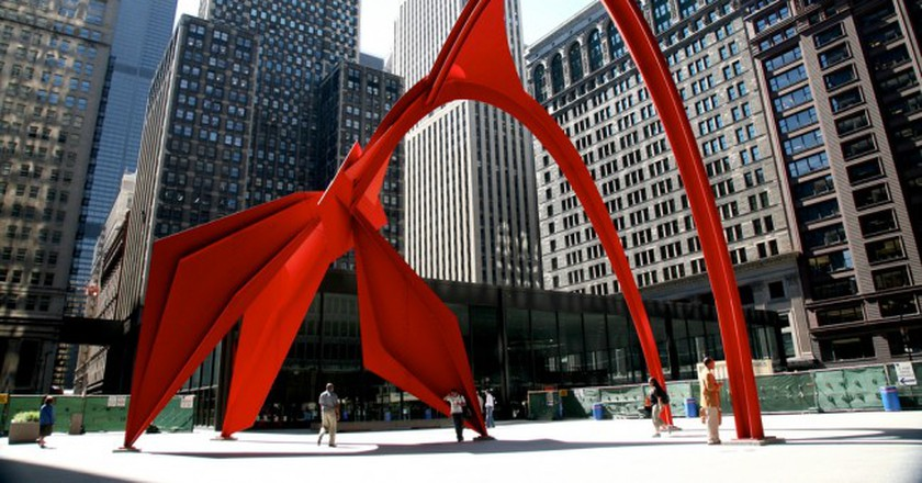"Chicago (ILL) Alexander Calder, ""Flamingo"", 1974. Acier | © (vincent desjardins)/Flickr"