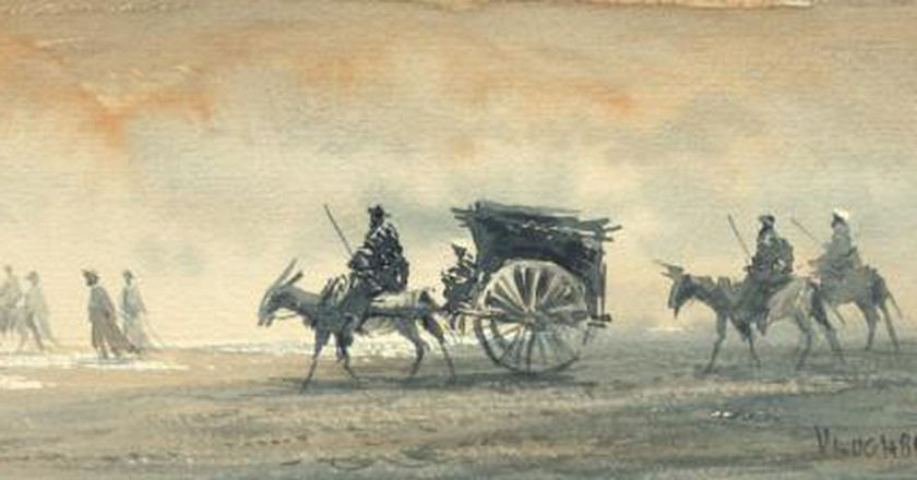 Ulughbek Mukhamedov's Watercolours: On The Road To Samarkand