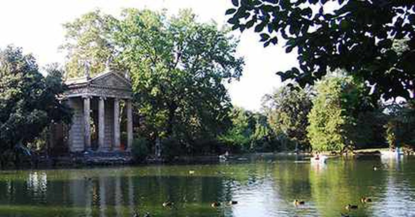 Nature and Art Kiss Each Other in Villa Borghese Gardens
