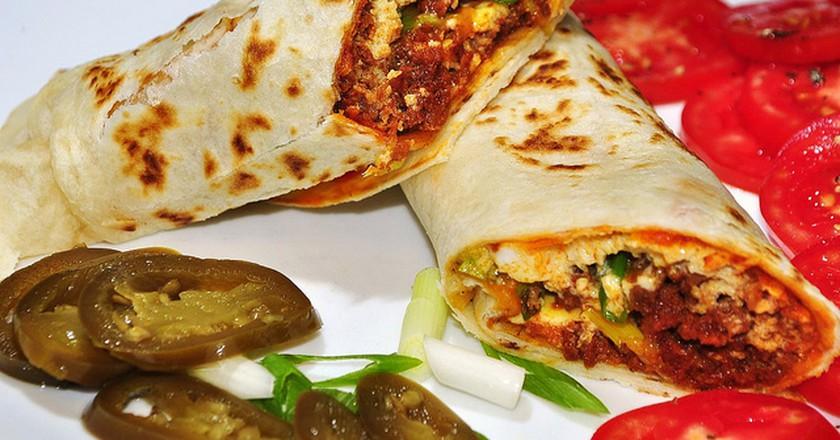 Chorizo breakfast burrito   © JeffreyW/Flickr