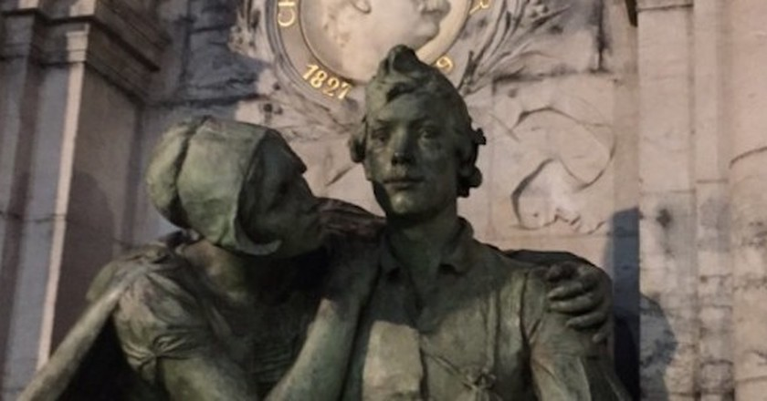 Detail of Charles De Coster monument representing Tijl and his wife, Nele | Courtesy of Margareta Hanes
