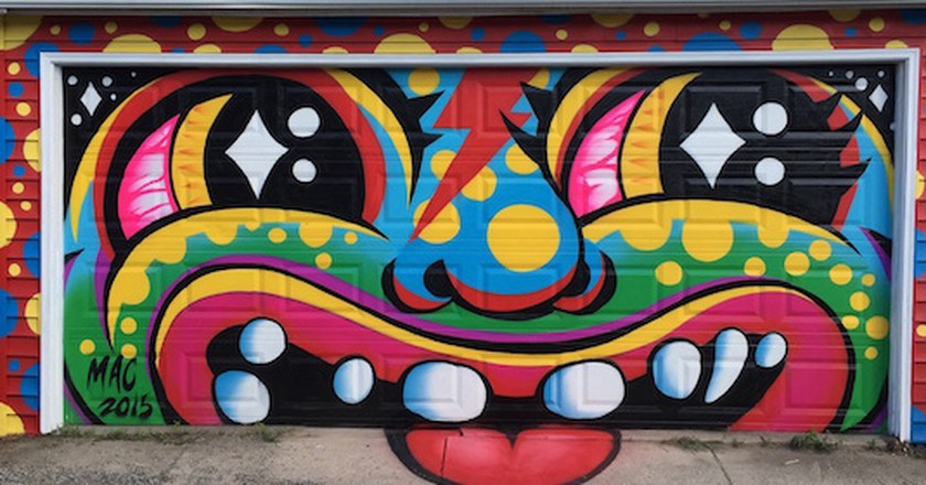 Garage mural | courtesy of Mac Blackout