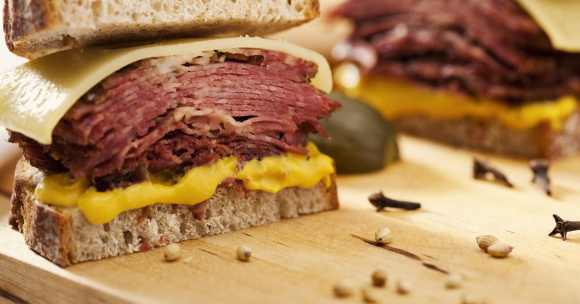 NY Pastrami Combo | Courtesy of 1Bite2Go