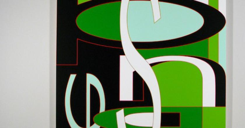 'Spinner' 2008, Acrylic on Canvas, 78x72 | © Aaron Parazette