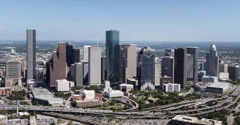 Aerial Houston View   © Skeeze/Pixabay