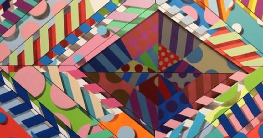 "Jason Woodside ""Sea 6"" 2015 52 x 60 inches | © Street Art Anarchy Gallery"