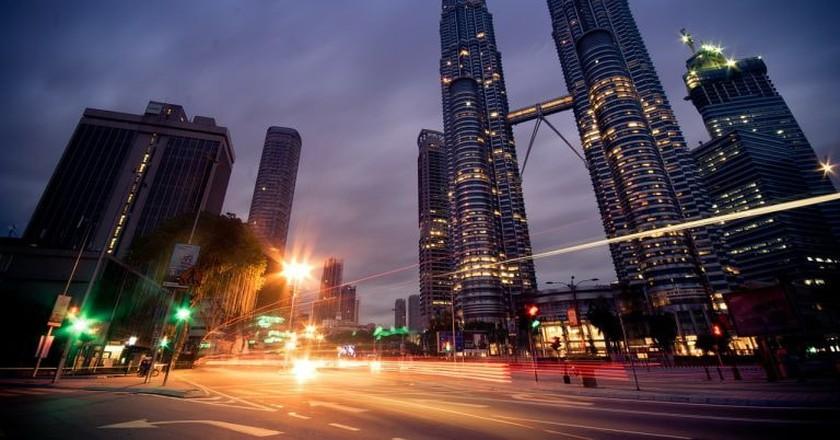 Kuala Lumpur City Centre on the night   © Pixabay