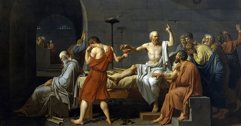 Jaques Louis David, The Death of Socrates | © Universal History Archive/Universal Images Group/REX/Shutterstock