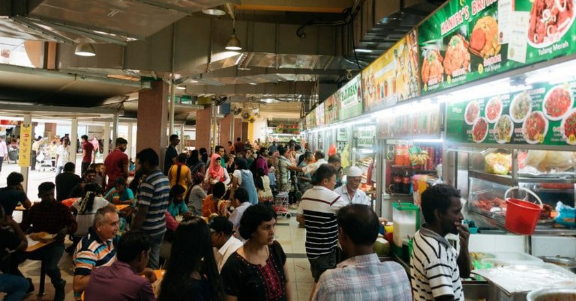 Tekka Hawker Centre is a popular spot for cheap good food