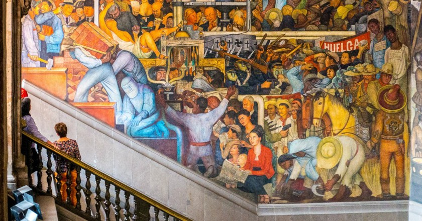 A brief overview of diego rivera s murals in san francisco for Diego rivera mural 1929