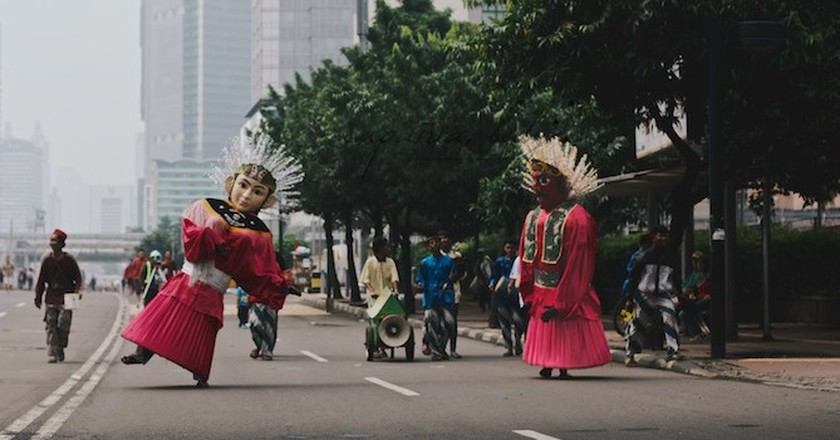 Ondel Ondel in Jakarta | © Erica Anne Knecht/That Wild Road