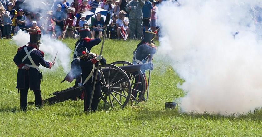 San Jacinto Battle Reenactment |  ©  Mike Fisher/Flickr