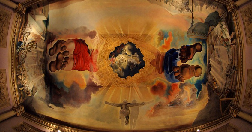 A roof painting at the Dali Museum in Figueres, Spain.   © Torrenegra/Flickr