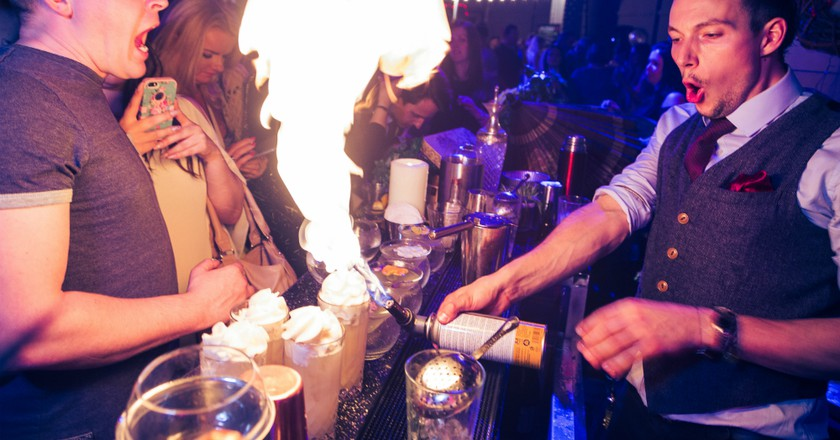 The Bar Is On Fire   Courtesy of Cocktails In The City