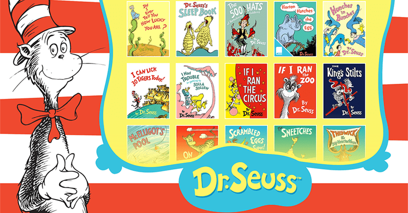 A display of 16 Dr. Seuss books | © Random House