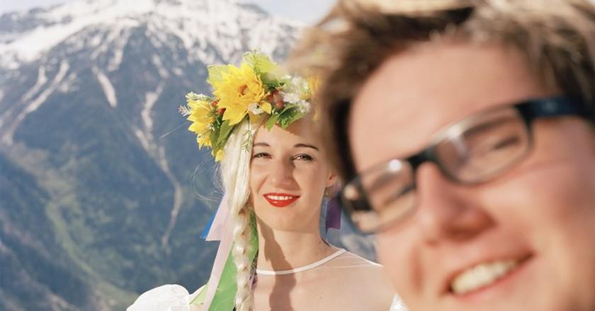 Romain Mader, Ekaterina: Mariage à Loèche-les-Bains (Marriage in Leukerbad) 2012, © Romain Mader / ECAL