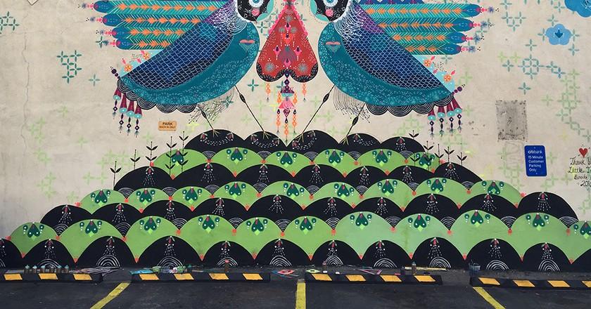 Mural in Little Tokyo Courtesy of the artist
