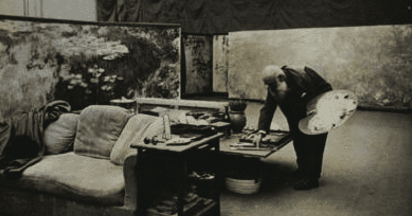 Monet in His Studio   Courtesy of The Petit Palais