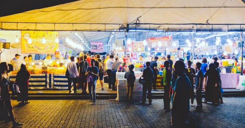 Pasar Malam @ field beside Woodlands MRT station | © Coconuts Singapore,  Courtesy of Ilyas Sholihyn