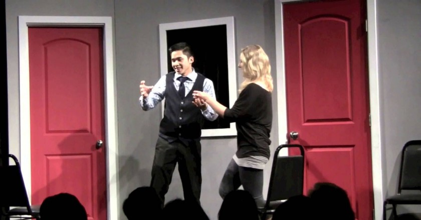 Have A Laugh At 'The Hotline Always Blings Twice' Improv
