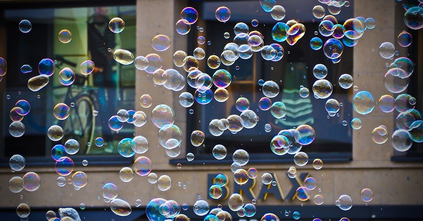 Squeaky Clean! Soap Bubble Flashmob