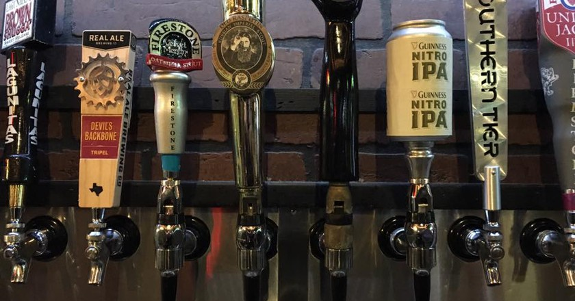 Tap Handles   Courtesy of Tapology Texas Pub