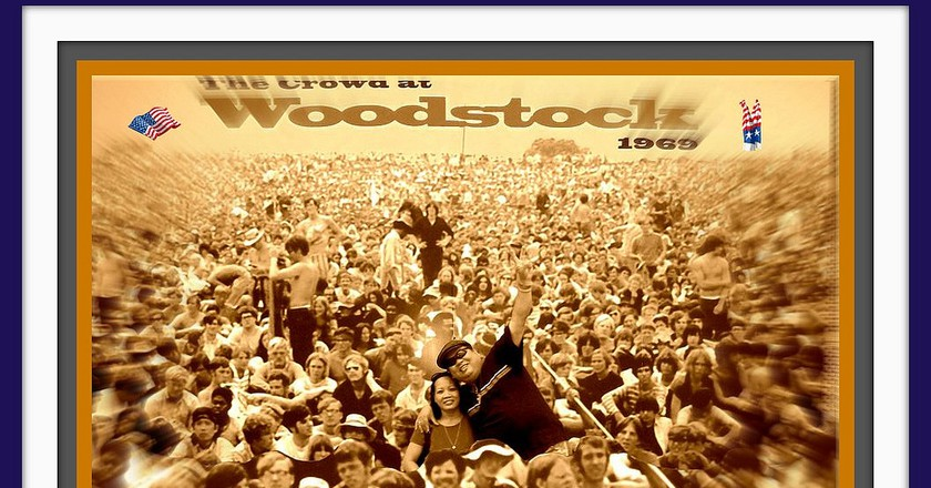 """a history of the woodstock rock festival Woodstock festival history on august 15 through 18, 1969, one of the most celebrated music festivals in history took place on this site at a time when americans were deeply divided, over 400,000 people from across the country gathered in these fields to celebrate """"three days of peace and music."""