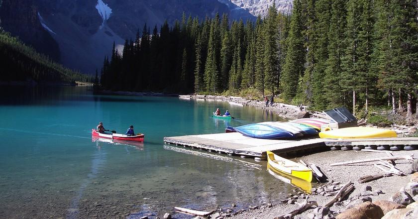 Moraine Lake at Banff National Park | ©Pascal/Flickr