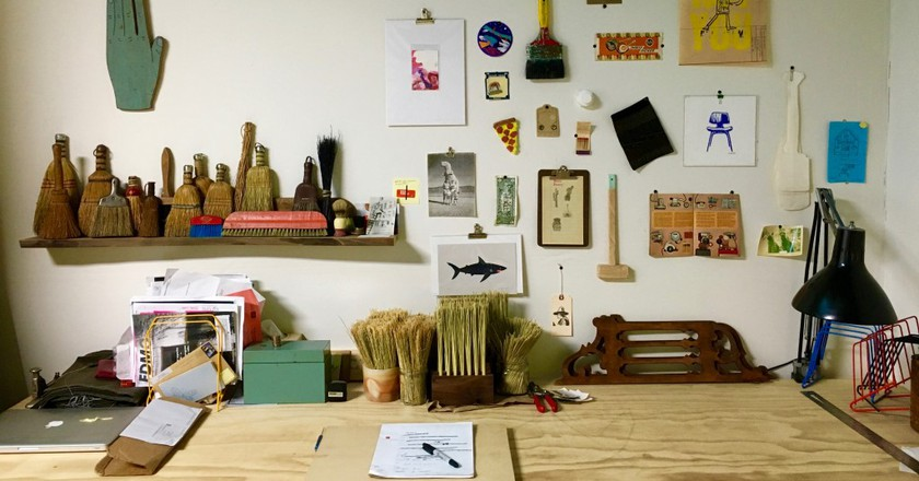 Hannah Beatrice Quinn's studio at Hunt Projects | © Anika Rice