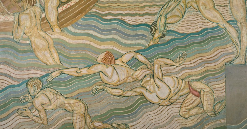 Bathing by Duncan Grant, 1911, oil paint on canvas | Courtesy of Tate