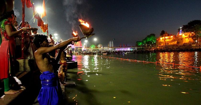 Devotees Taking The Holy Dip At Simhasta Kumbh, Ujjain (c) Anil Gulati