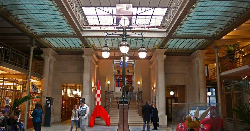 The entrance of BCSC | © Courtesy of Daniel Fouss/ Brussels Comic Strip Center