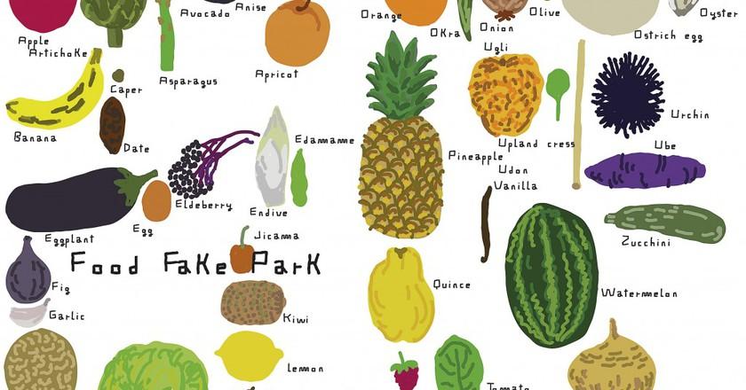 Martí Guixé   Drawing for Fake Food Park: Martí Guixé for Kids, NGV Kids Exhibition, 2016 | © Martí Guixé