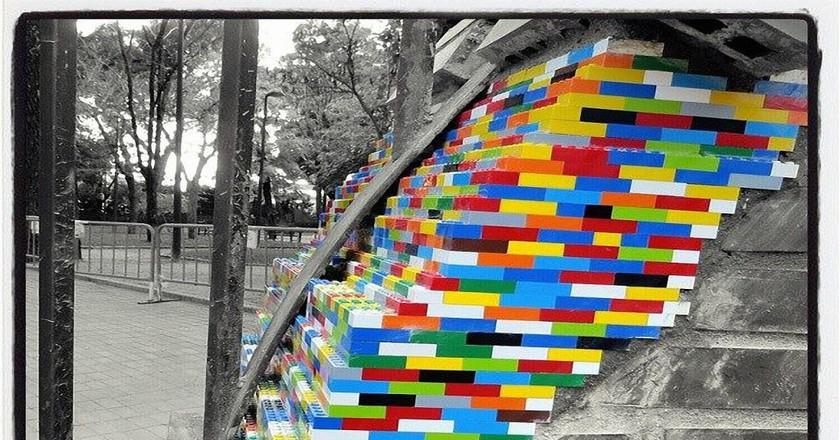 Jan Vormann Colors Crumbling Buildings With Legos