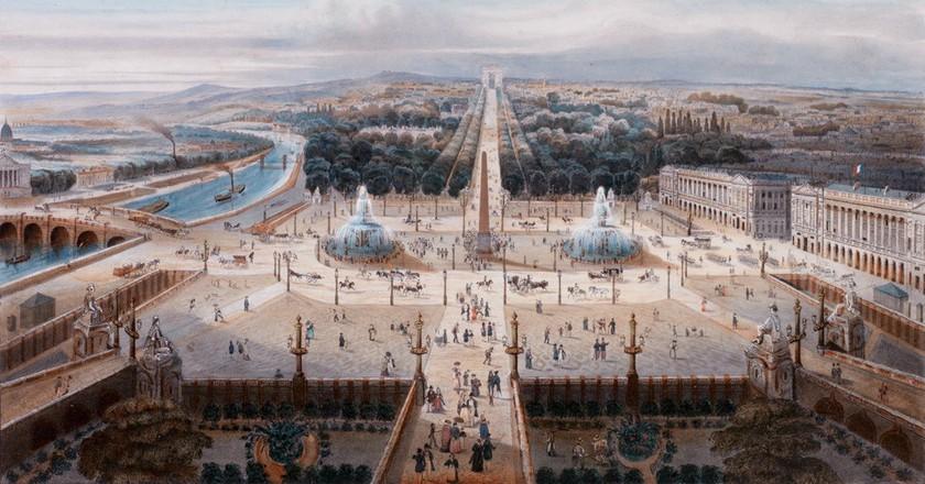 Place de la Concorde, 19th century/ Auktionshaus Zeller/Wikicommons