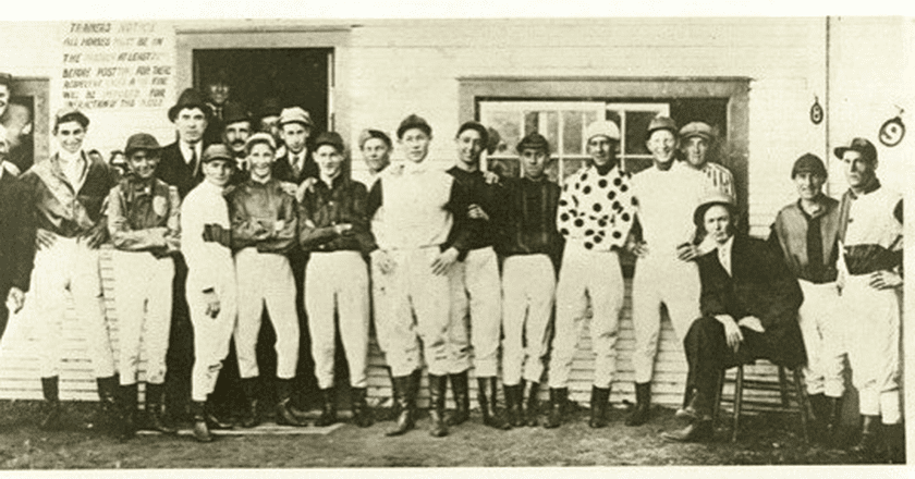 Harry Watts Richard Watts and others at Woodbine Race Track 1914   Courtesy of Watts/Williams family personal archives/Wikicommons
