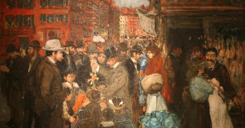 Street Scene (Hester Street) by George Benjamin   © Brooklyn Museum/WikiCommons