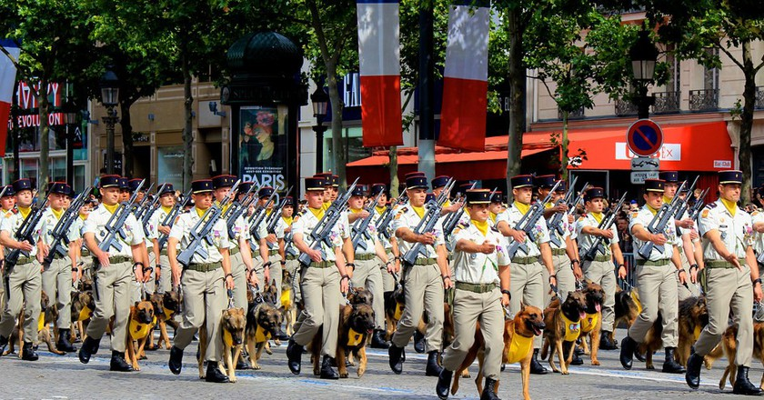 March Down The Champs-Élysées With The July 14th Military Parade